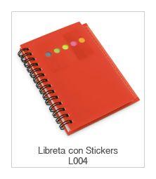 Libreta con stickers