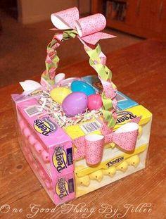 Diy edible easter egg basket easter egg basket egg basket and how to make an edible easter basket in 3 easy steps easter gifts for kidseaster craftseaster ideascreative negle Gallery