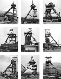 Bernd and Hilla Becher - Winding Towers, 1966-1977.  Art Experience NYC  www.artexperiencenyc.com/social_login/?utm_source=pinterest_medium=pins_content=pinterest_pins_campaign=pinterest_initial