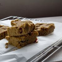 Vegan Cranberry and Banana Protein Bars – Gluten Free  - mandyvft.com/homemade_protein_bars