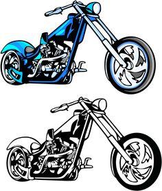 Motor Bike Moto Moto Silhouette X 10 die cuts Qualité Carte Noire