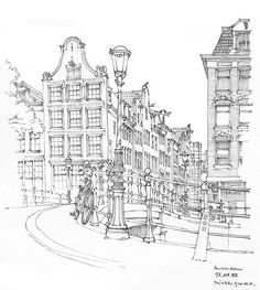 Amsterdam sketch by Gérard Michel