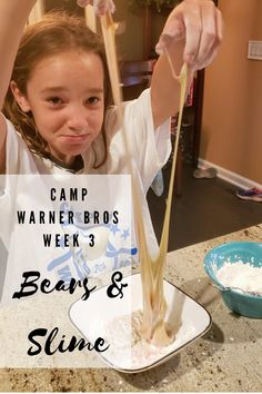#CampWarnerBros – Week 3 – Bears Camping Activities, Activities To Do, Sensory Activities, Most Pinned Recipes, 3 Bears, Slime Recipe, The Brethren, Gummy Bears, Warner Bros