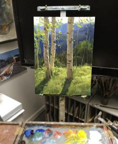 50 Trendy ideas for birch tree illustration aspen Watercolor Trees, Watercolor Landscape, Landscape Art, Landscape Paintings, Landscape Pictures, Paintings I Love, Seascape Paintings, Oil Painting Trees, Painting Abstract