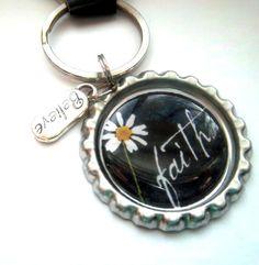 Faith Inspirational Bottle Cap Keychain by HouseofKeys on Etsy, $3.00