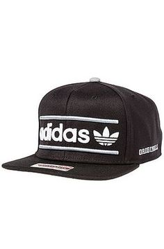 Adidas Hat Heritage Snapback in Black Black Nike Shoes, Adidas Shoes Women, Stylish Caps, Dope Hats, Dope Outfits For Guys, Adidas Outfit, Swag Style, Snapback Cap, Beanies