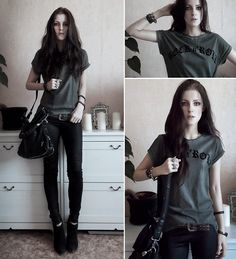 Rock N Roll Tee (by Katerina Kraynova) http://lookbook.nu/look/4445833-Rock-N-Roll-Tee