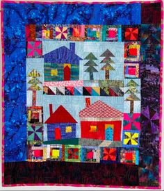 love this!    Lily's Quilts: Learn to make a Scrap House Quilt