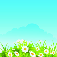 Summer blue sky backgrounds vector 05