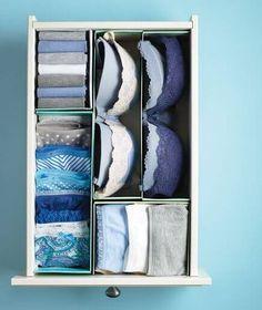 boite à chaussure pour séparer les tiroirs - créer des compartiments pour les sous vêtements , collants, chaussettes