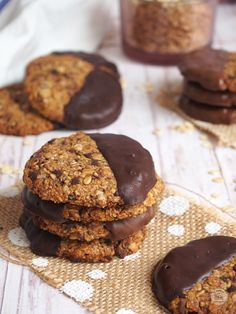 Healthy Cookie Recipes, Healthy Cookies, Gluten Free Cookies, Snacks Saludables, Healthy Breakfast Smoothies, Cookie Time, Tasty, Yummy Food, Morning Food