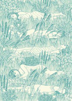 Print Club London: Virgin Suicides - Laurie Hastings Illustration