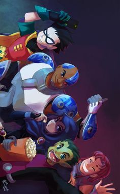 Teen Titans by Letícia Yukie Tamayose - Visit to grab an amazing super hero shirt now on sale