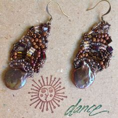 Colorful brown earrings for any occasion by JudesArt on Etsy, $43.00 SOLD