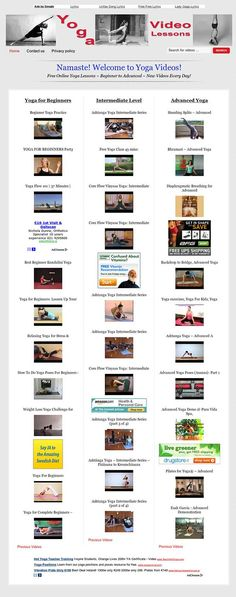 Yoga video lessons website for sale! New Design! Need a Yoga website for your affiliate marketing portfolio? Welcome to Yoga TV! Yoga free video lessons with hundreds of videos, for beginners, intermediate and advanced users. Completely automated you do nothing to maintain the site! Great for beginners! Make money with AdSense, Clickbank and Amazon Associates.