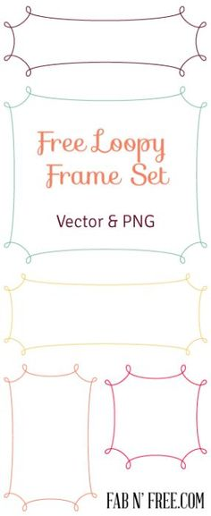 Set of 5 Free Loopy Frames