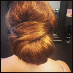 Sleek updo! Is this the ball of crap u were talking about Jo Jo? Lol