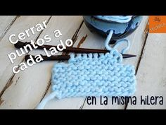 Learn to bind off at both sides of the same row, to avoid any differences in the levels around the armholes of your handmade sweater. Knitting Videos, Arm Knitting, Knitting Stitches, Knitting Designs, Knitting Patterns, Crochet Patterns, Crochet Baby, Knit Crochet, Baby Kimono