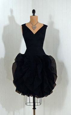 ~1950s Lilli Diamond Silk-Organza Cocktail Dress~