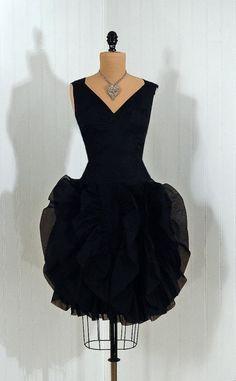 ~1950s Lilli Diamond Silk-Organza Cocktail Dress~