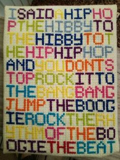 The best needlepoint ever....OK...someone should make this for me...please and thank-you :)