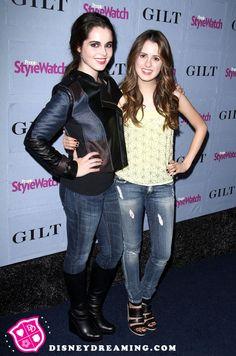 Laura Marano and Vanessa Marano at the Hollywood Denim Party!