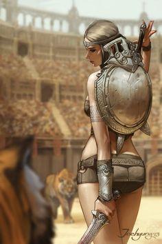 As belas mulheres nas ilustrações de fantasia de Lee JeeHyung