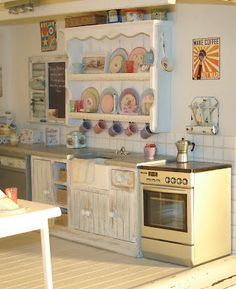 Miniature Kitchen in 1/12 scale by Carolyn's Little Kitchen