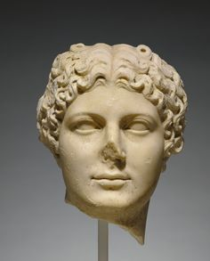 Portrait Head of Agrippina the Younger; Unknown; Roman Empire; about 50; Marble; 32 x 27 x 28 cm (12 5/8 x 10 5/8 x 11 in.); 70.AA.101; Gift of J. Paul Getty