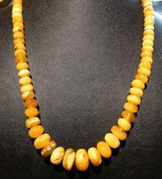 Baltic Amber Egg Yolk Amber Vintage 34.1 Grams by ElegantArtifacts, $675.00