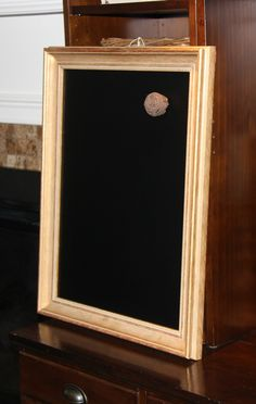 Large, Gold-Framed, Magnetic Chalkboard-Weddings/Home/Restaurants (19 1/2 x 25 inches) by PoshPilfer on Etsy