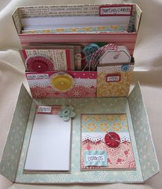 Boxed stationary set from Buys Perfectly Precocious Design Team. Boxed stationary set from Buys Perfectly Precocious Design Team. Stationary Gifts, Stationery Set, Mini Albums, Paper Purse, Marianne Design, Craft Fairs, Envelopes, Cute Gifts, Cardmaking
