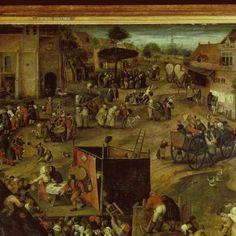 Een opvoering van de klucht 'Een cluyte van Plaeyerwater' op een Vlaamse kermis., Pieter Balten, ca. 1540 - ca. 1598 - Dagelijks leven (schilderijen) - Kunstwerken - Ontdek de collectie - Rijksmuseum