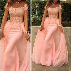 Fashion Pink Mermaid Elegant Evening Dresses Sexy Off the Shoulder Short Sleeve Lace Prom Gowns Floor Length Special Occasion Dresses 50069 Online with $129.85/Piece on Rosemarybridaldress's Store   DHgate.com