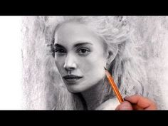 (123) The White Queen - Charcoal Portrait Drawing Music Art Video - YouTube