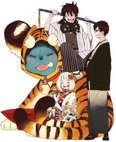 Rin,Yukio, Shiemi & Kuro #blue exorcist