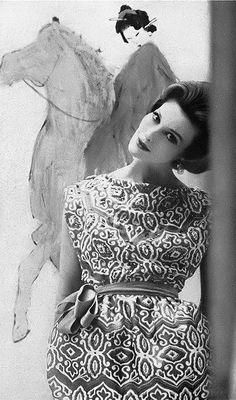 Mary Jane Russell, photo by Saul Leiter, Harper's Bazaar, April 1959 | flickr skorver1