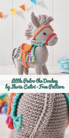 Little Pedro the Donkey by Ilaria Caliri - Free Pattern #crochet #amigurumitoy #freepattern #crochetdolls