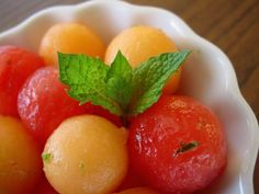 Watermelon & Cantaloupe with Lime and Mint