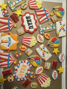 Circus cookies by Lydia Carter.  Amazing!!!!!