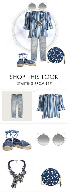 """""""All Blue"""" by feralkind ❤ liked on Polyvore featuring Abercrombie & Fitch, Derek Heart, MICHAEL Michael Kors, Marc Jacobs and plus size clothing"""