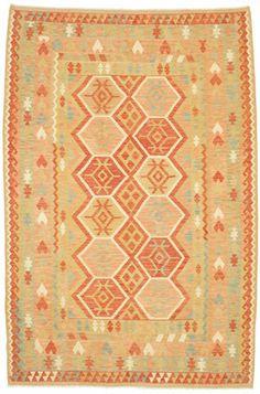 Kelim Afghan Old style tapijt 302x203