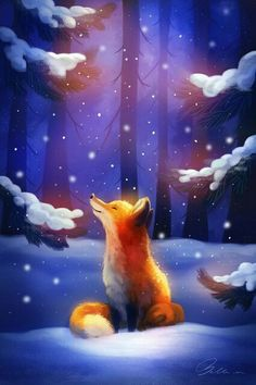 Fox Art, HD Artist Wallpapers Photos and Pictures Cute Animal Drawings, Cute Drawings, Fox Drawing, Fox Illustration, Fox Art, Cute Fox, Anime Animals, Animal Wallpaper, Cute Baby Animals