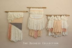 weaving wall hangings // the duchess collection by Stitched Vintage Co // hand woven tapestry wall hanging textile http://stitchedvintage.co