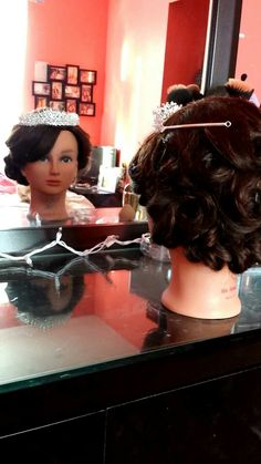 Last updo I did & added my Quince crown (: