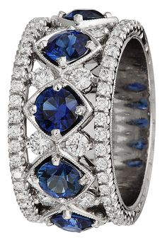 Something blue—Jack Kelege Sapphire and Diamond Band | TIVOL