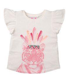 Look at this #zulilyfind! Vanilla Tiger Angel-Sleeve Tee - Infant, Toddler & Girls #zulilyfinds