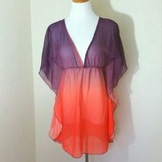 Elif for Jordan Taylor Ombre Swim Cover Elif for Jordan Taylor Ombre Swim Cover. Dolman sleeve. Deep V neck. EUC.   No Trade or PP  Offers Considered  Bundle discounts Elif for Jordan Taylor  Swim Coverups