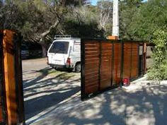 Timber sliding gate