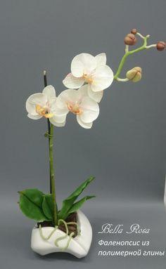 МК по лепке фаленопсиса с листьями и корнями - Ярмарка Мастеров - ручная работа, handmade